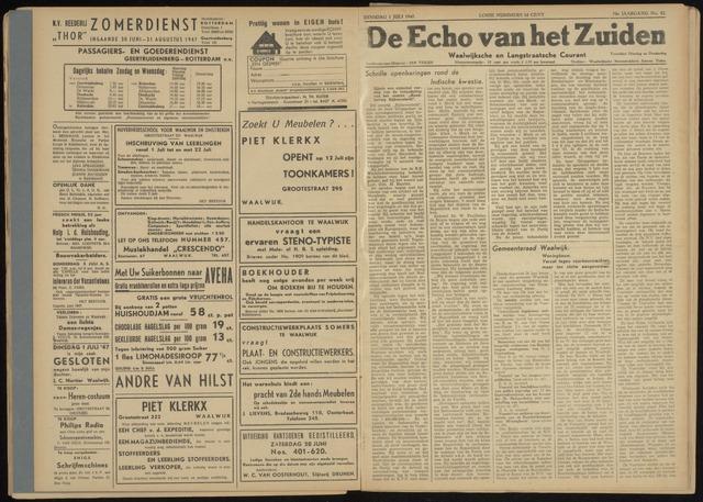 Echo van het Zuiden 1947-07-01