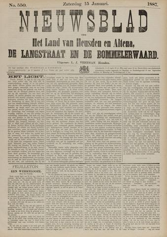 Nieuwsblad het land van Heusden en Altena de Langstraat en de Bommelerwaard 1887-01-15