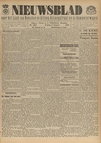 Nieuwsblad het land van Heusden en Altena de Langstraat en de Bommelerwaard 1923-01-05