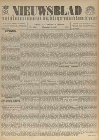 Nieuwsblad het land van Heusden en Altena de Langstraat en de Bommelerwaard 1919-07-16