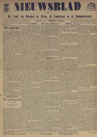 Nieuwsblad het land van Heusden en Altena de Langstraat en de Bommelerwaard 1908-02-12