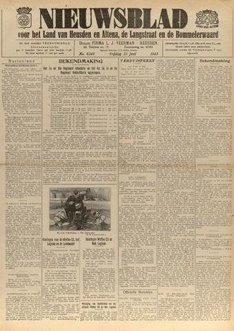 Nieuwsblad het land van Heusden en Altena de Langstraat en de Bommelerwaard 1943-06-25