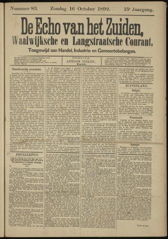 Echo van het Zuiden 1892-10-16