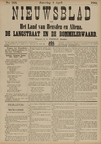 Nieuwsblad het land van Heusden en Altena de Langstraat en de Bommelerwaard 1885-04-04