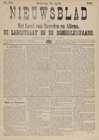 Nieuwsblad het land van Heusden en Altena de Langstraat en de Bommelerwaard 1887-04-23