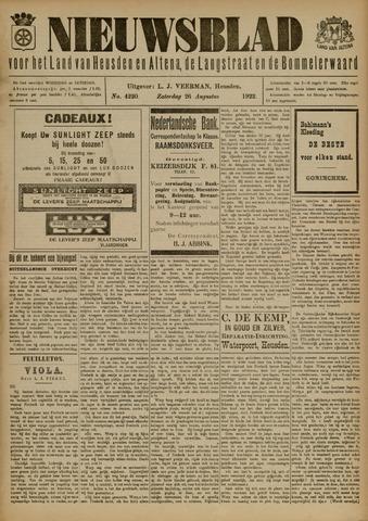 Nieuwsblad het land van Heusden en Altena de Langstraat en de Bommelerwaard 1922-08-26