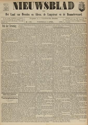 Nieuwsblad het land van Heusden en Altena de Langstraat en de Bommelerwaard 1893-04-05
