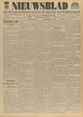Nieuwsblad het land van Heusden en Altena de Langstraat en de Bommelerwaard 1930-08-20