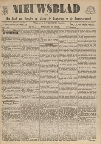 Nieuwsblad het land van Heusden en Altena de Langstraat en de Bommelerwaard 1904-04-23