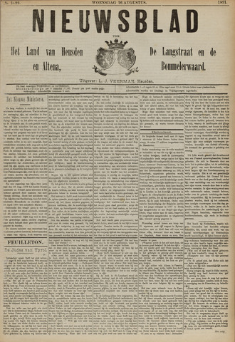 Nieuwsblad het land van Heusden en Altena de Langstraat en de Bommelerwaard 1891-08-26