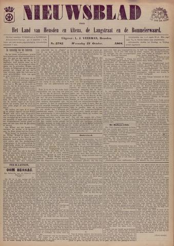 Nieuwsblad het land van Heusden en Altena de Langstraat en de Bommelerwaard 1908-10-21