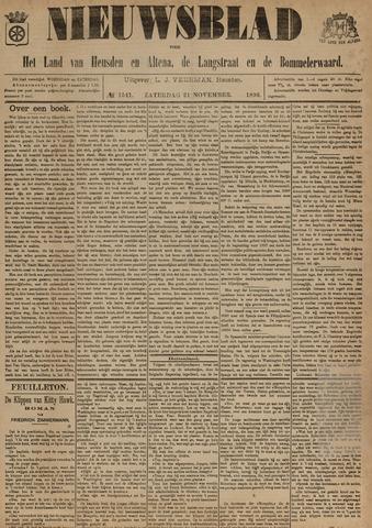Nieuwsblad het land van Heusden en Altena de Langstraat en de Bommelerwaard 1896-11-21