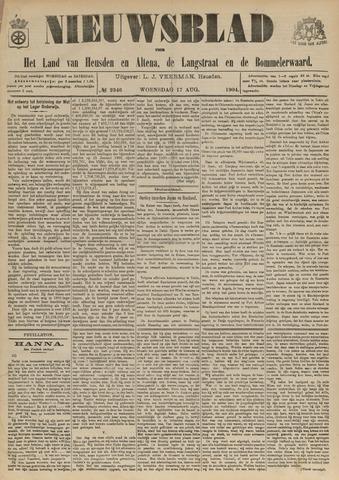Nieuwsblad het land van Heusden en Altena de Langstraat en de Bommelerwaard 1904-08-17