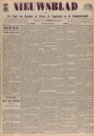 Nieuwsblad het land van Heusden en Altena de Langstraat en de Bommelerwaard 1910-04-09