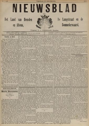 Nieuwsblad het land van Heusden en Altena de Langstraat en de Bommelerwaard 1891-12-25