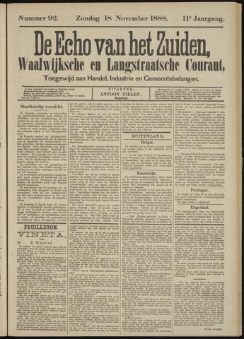 Echo van het Zuiden 1888-11-18
