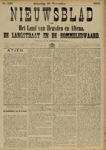 Nieuwsblad het land van Heusden en Altena de Langstraat en de Bommelerwaard 1882-11-18