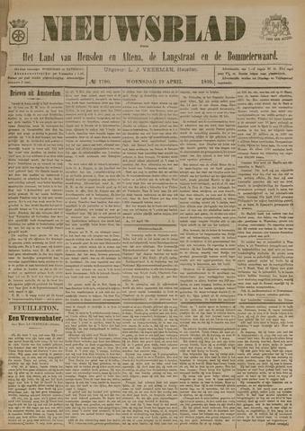 Nieuwsblad het land van Heusden en Altena de Langstraat en de Bommelerwaard 1899-04-19