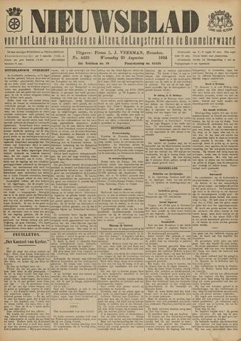 Nieuwsblad het land van Heusden en Altena de Langstraat en de Bommelerwaard 1924-08-20