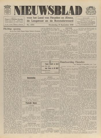 Nieuwsblad het land van Heusden en Altena de Langstraat en de Bommelerwaard 1949-09-15