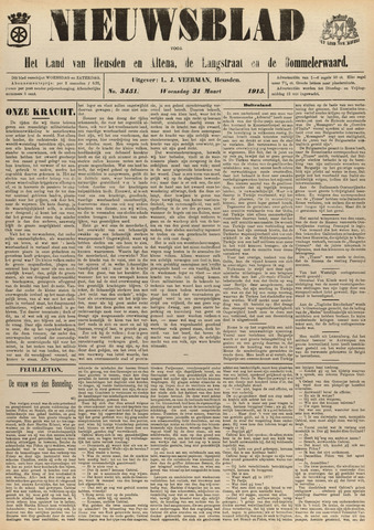 Nieuwsblad het land van Heusden en Altena de Langstraat en de Bommelerwaard 1915-03-31