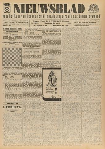 Nieuwsblad het land van Heusden en Altena de Langstraat en de Bommelerwaard 1930-04-23