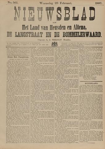 Nieuwsblad het land van Heusden en Altena de Langstraat en de Bommelerwaard 1887-02-23