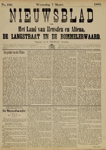 Nieuwsblad het land van Heusden en Altena de Langstraat en de Bommelerwaard 1883-03-07