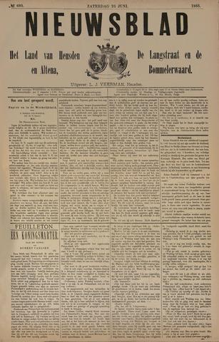 Nieuwsblad het land van Heusden en Altena de Langstraat en de Bommelerwaard 1888-06-23