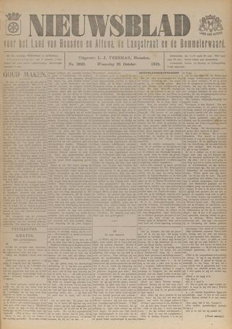 Nieuwsblad het land van Heusden en Altena de Langstraat en de Bommelerwaard 1918-10-23