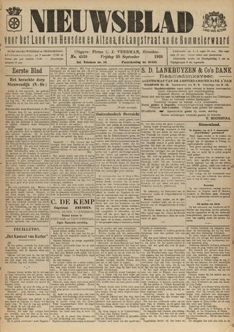 Nieuwsblad het land van Heusden en Altena de Langstraat en de Bommelerwaard 1925-09-25