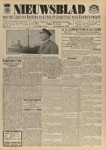 Nieuwsblad het land van Heusden en Altena de Langstraat en de Bommelerwaard 1928-01-13