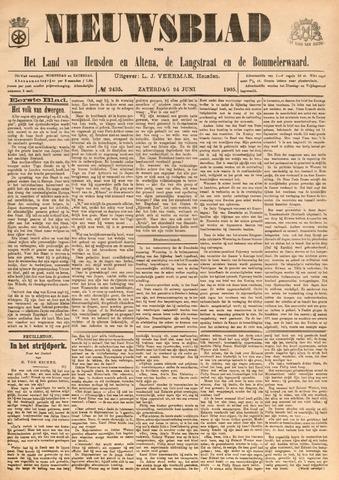 Nieuwsblad het land van Heusden en Altena de Langstraat en de Bommelerwaard 1905-06-24