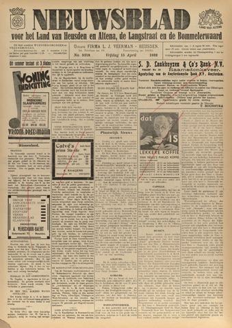 Nieuwsblad het land van Heusden en Altena de Langstraat en de Bommelerwaard 1932-04-15