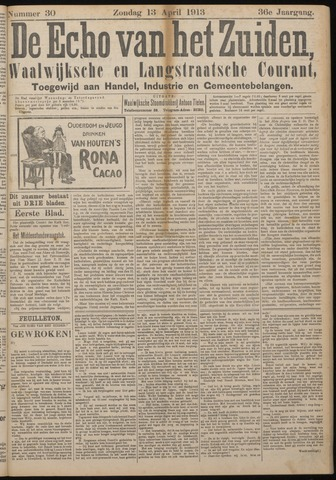Echo van het Zuiden 1913-04-13