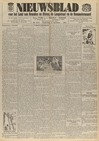 Nieuwsblad het land van Heusden en Altena de Langstraat en de Bommelerwaard 1943-12-23