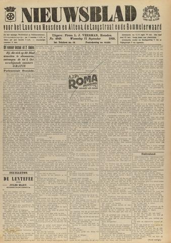 Nieuwsblad het land van Heusden en Altena de Langstraat en de Bommelerwaard 1929-09-11