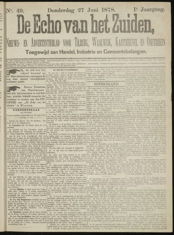 Echo van het Zuiden 1878-06-27