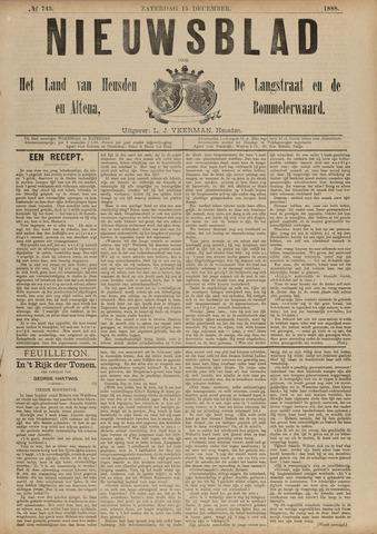 Nieuwsblad het land van Heusden en Altena de Langstraat en de Bommelerwaard 1888-12-15