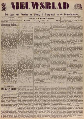 Nieuwsblad het land van Heusden en Altena de Langstraat en de Bommelerwaard 1910-11-12