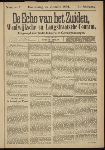 Echo van het Zuiden 1891-01-22