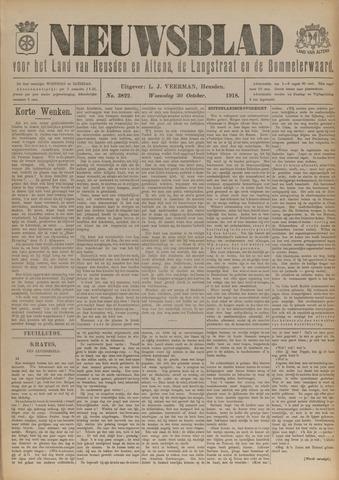 Nieuwsblad het land van Heusden en Altena de Langstraat en de Bommelerwaard 1918-10-30