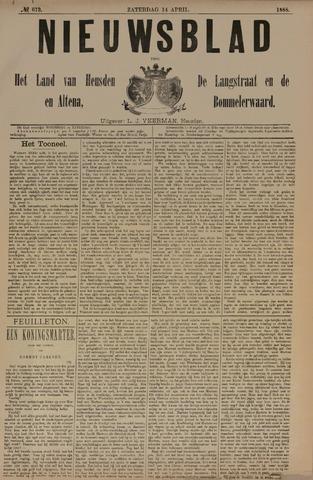 Nieuwsblad het land van Heusden en Altena de Langstraat en de Bommelerwaard 1888-04-14