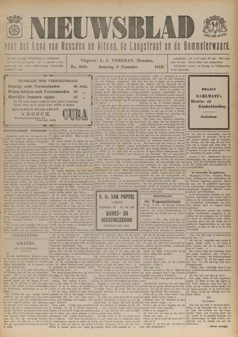 Nieuwsblad het land van Heusden en Altena de Langstraat en de Bommelerwaard 1918-11-09