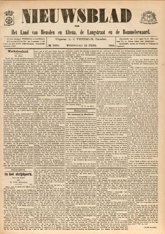 Nieuwsblad het land van Heusden en Altena de Langstraat en de Bommelerwaard 1905-02-22