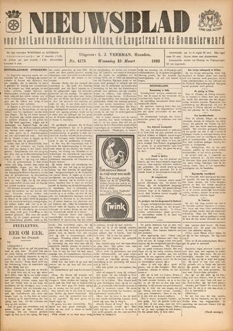 Nieuwsblad het land van Heusden en Altena de Langstraat en de Bommelerwaard 1922-03-15