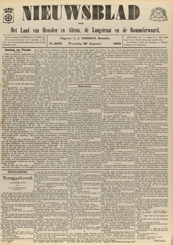 Nieuwsblad het land van Heusden en Altena de Langstraat en de Bommelerwaard 1913-08-20