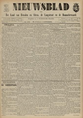 Nieuwsblad het land van Heusden en Altena de Langstraat en de Bommelerwaard 1892-09-07