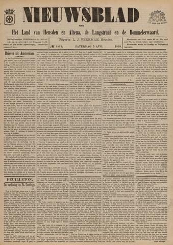 Nieuwsblad het land van Heusden en Altena de Langstraat en de Bommelerwaard 1899-08-05