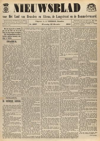Nieuwsblad het land van Heusden en Altena de Langstraat en de Bommelerwaard 1915-12-22